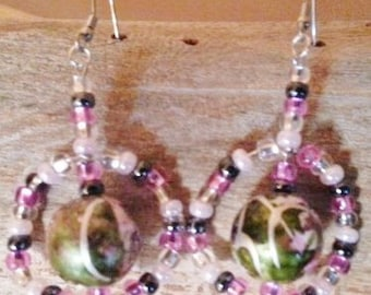 Floral Colors In The Round Earrings