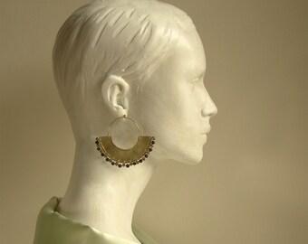 Hoop earrings, African earrings, african jewelry, ethnic earrings, tribal and ethnic earrings, hoop tribal earrings, boho earrings