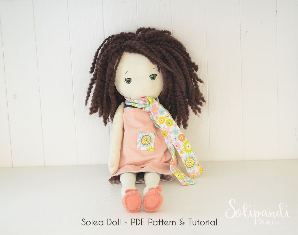 Solea Fabric Doll Pdf Pattern/tutorial // Make Your Own Rag