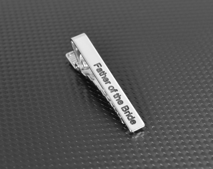 Custom Tie Clip, Custom Tie Bar, Gift for Him, Personalized Tie Bar, Tie Bar Clip, Custom Men's Gift,Personalized Gift for him, Gift For Dad