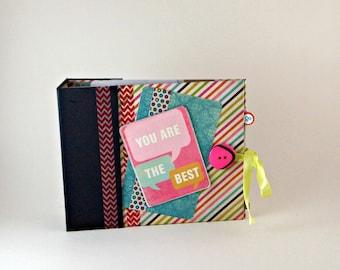 Tag / Brag Book, Scrapbook Album, Photo Album / Scrapbook, Memory Book, Premade Scrapbook / Mini Album