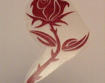 Red glitter Iron on decal-size 5*3