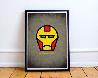 Iron Man Minimalist Poster - Superhero Minimalist Series - Avengers Movie Comic Inspired Art - Available In Many Sizes