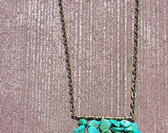 Turquoise & Copper Industrial Necklace