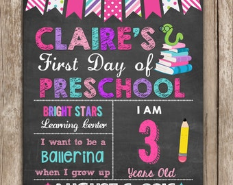 First Day of School Sign ANY GRADE, Back to School Sign Chalkboard,Photo Prop Digital Printable