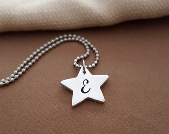 Initial Necklace | Initial Star Necklace | Tiny Star Necklace | Personalized Initial Necklace | Star Necklace With Letter | Best Friend Gift