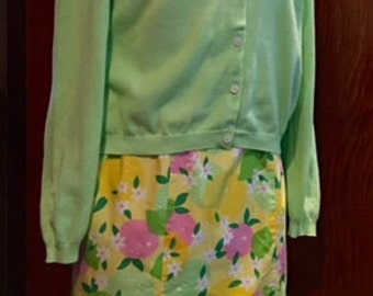 Vintage LILLY PULITZER Button Down Cardigan Sweater Size Small Excellent Condition