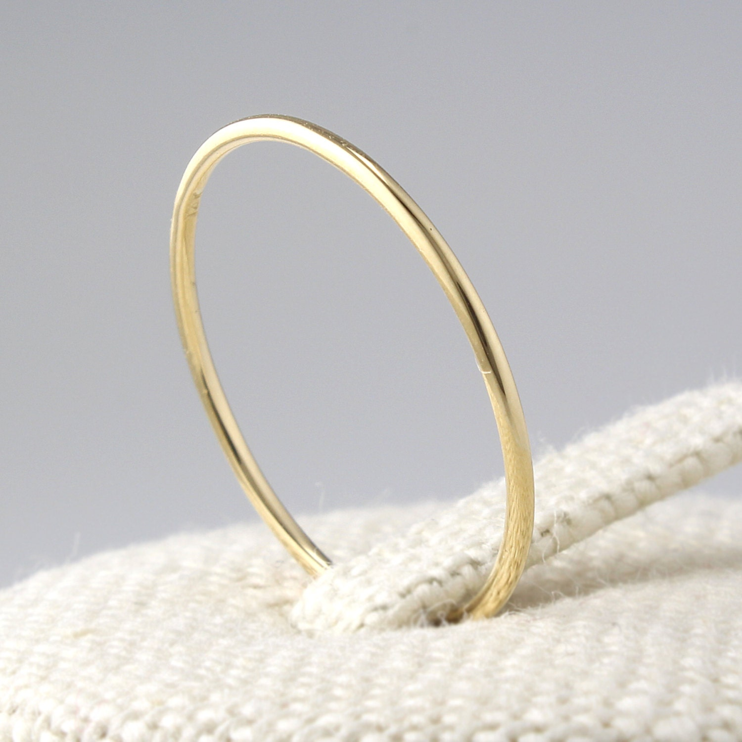 14k solid gold thin stacking ring 14k solid gold thin band