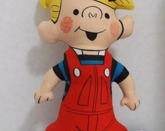 Vintage Dennis The Menace Fabric Doll