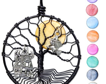 Midnight Ride Tree of Life Pendant Tree of Life Necklace Wire Wrapped Jewelry
