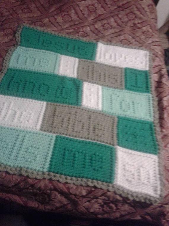 Jesus Loves Me Blanket Crochet Nursery Blanket Crochet Baby