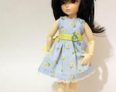 Blue sunflower sun dress for Littlefee and YoSD BJDs
