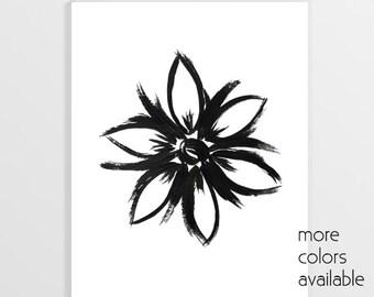 Popular wall art, Flower art, Flower painting, Black and white art, Printable,Simple flower,Bedroom wall art,Digital, 5x7, 8x10 & 11x14, 232