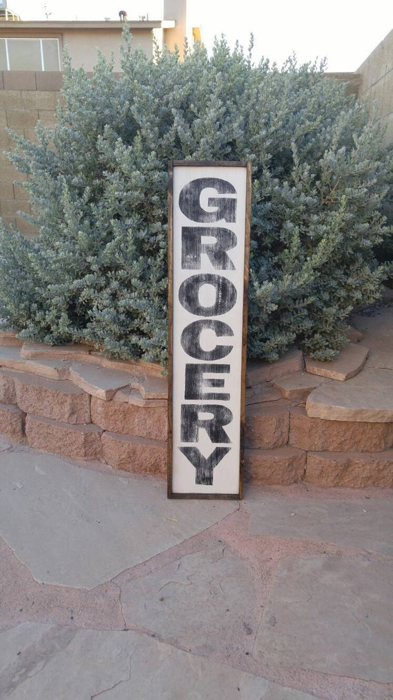 Vertical Wood Sign Custom Wood Sign Market Sign Laundry