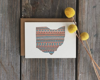 State Cards, Ohio Note Card Set, Tribal State of Ohio Note Cards