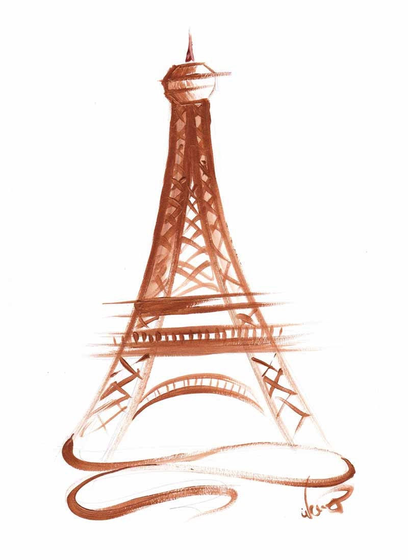 It is a graphic of Gorgeous Printable Eiffel Tower