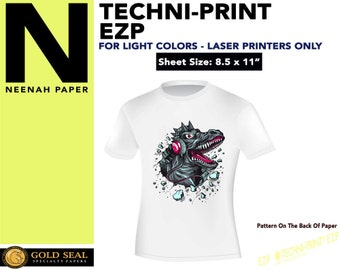 "25 Sheets - Neenah Techni-Print EZP Laser Heat Transfer Paper - Iron On Transfer Paper 8.5 X 11"""