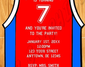 Basketball Birthday Invitation - Printable