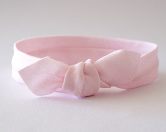 Pink Headband for Baby Girl, Organic Headband, Baby Headband, Knotted Headband, Baby Topknot, Top Knot Headband, Girl Headband Pink