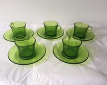 5 cups french vintage Duralex