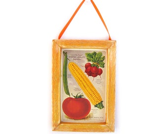 Vegetable Picture, Vegetable Magnet, Cubicle Decor, Kitchen Gift, Thank You Gift, Small Gift, Gift For Him, Gift For Her, Fridge Magnet