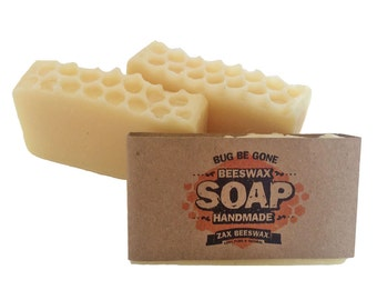 Bug Be Gone  Natural Handmade Beeswax Soap