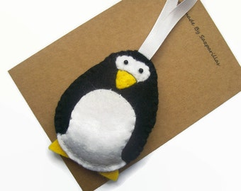 Penguin Gift Felt Christmas Ornaments, Christmas Tree Decorations, Felt Penguin Christmas Gifts