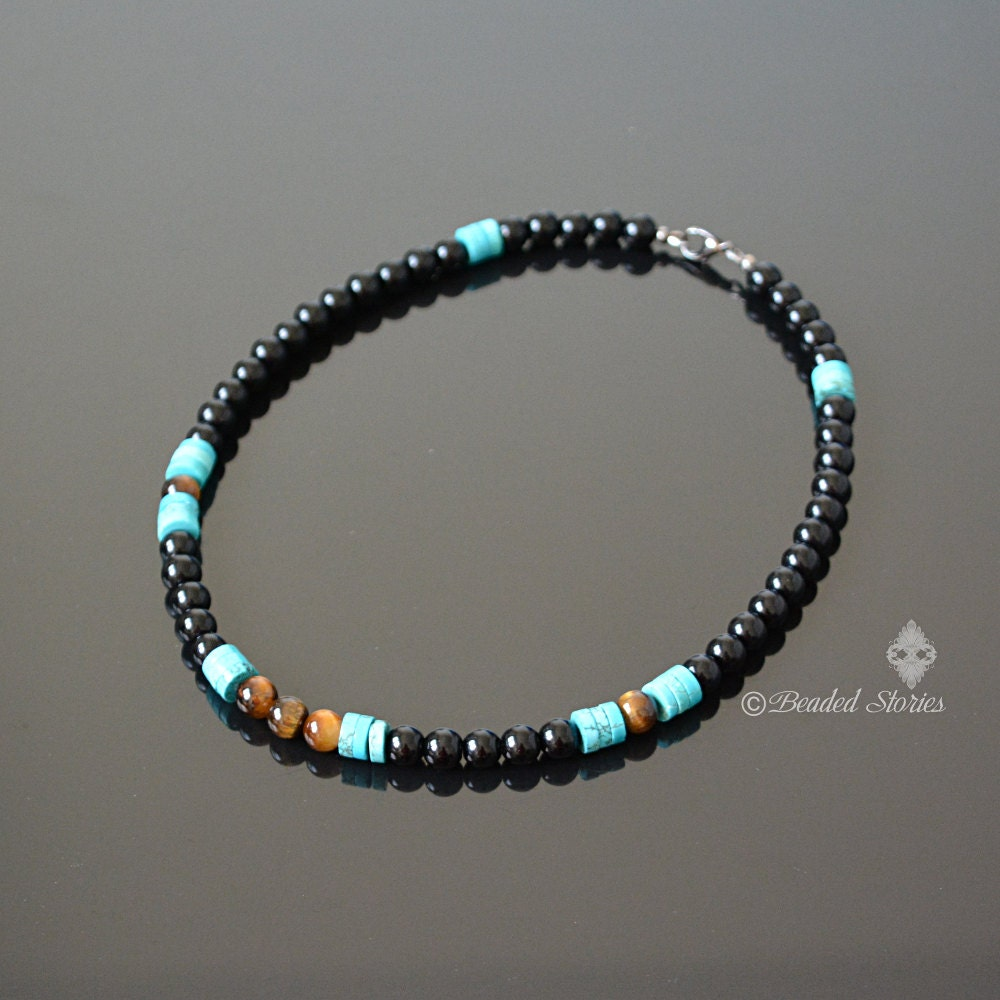 december birthstone jewelry for him mens beaded necklace. Black Bedroom Furniture Sets. Home Design Ideas