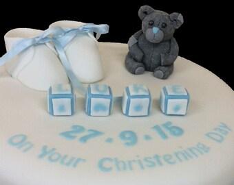 Christening Cake Topper set
