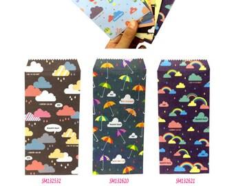 Raining Envelopes Pack of 5