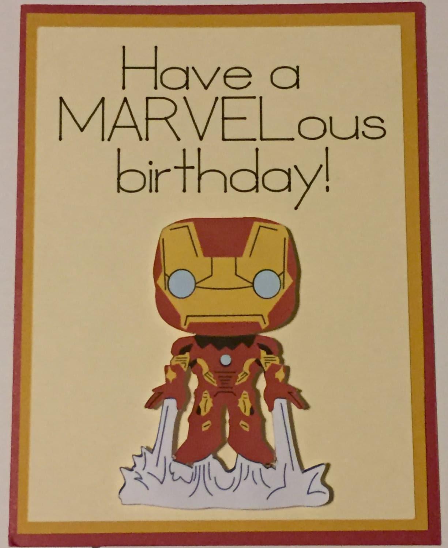 Disney Marvel Iron Man homemade birthday card – Iron Man Birthday Card