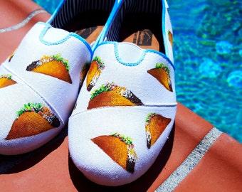 Custom Handpainted Taco Shoes