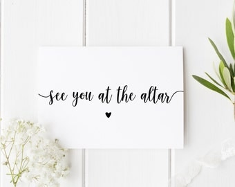 See You At The Altar, On Our Wedding Day, Groom Wedding Day Card, Pretty Wedding Card, Card For Groom Wedding Day, Card For Bride Wedding