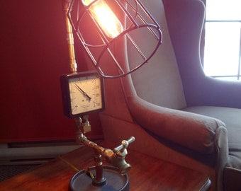 Edison Lamp, Industrial Lighting, Steampunk Lamp, Pipe Fitting Lamp, Desk Lamp, Lab Style Lamp, Handmade Lamp, Vintage Lamp, Plumbing Lamp