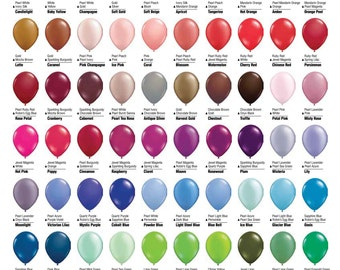 """11"""" Latex Balloons - 6 pack - Extended Line & Custom Colors"""
