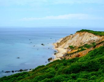 Gay Head Cliffs ~ Aquinnah, Martha's Vineyard, Gorgeous Photograph, Long Exposure, Nautical, Artwork, Wall Art, Coastal Decor, Beach Photo