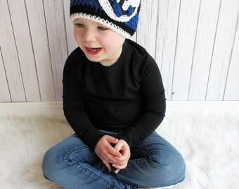Anchor Hat, Crochet Anchor Hat, Newborn to Adult sizes