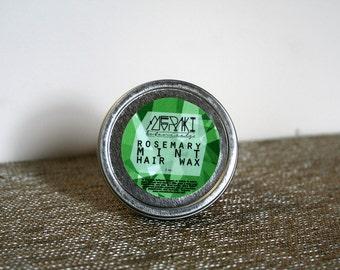 rosemary mint hair wax \ 2 oz.\ hair wax \ natural hair wax made with honey \ natural hair products \ hair growth \ hair pomade