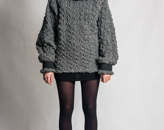 Fasada f/1598 oversized jumper / sweater with unusual bumpy texture