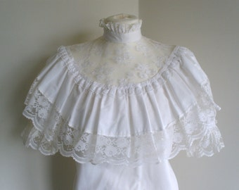 1960's White cotton Blouse