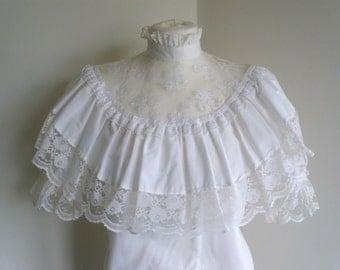 1960's White cotton Blouse
