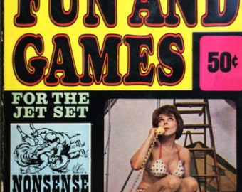Harvey Kurtzman's Fun and Games Terry Gilliam 1965 Psychedelic Puzzle Book Humor Help Magazine