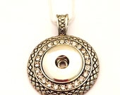 Snap Necklace- Antiqued S...