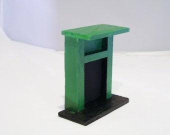 Mini Green Fireplace