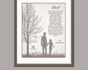 Father Wedding Gift - Father of The Bride Gift - Wedding Gift Dad - Wedding Gift Parents Dad Wedding Gift From Daughter Father Wedding Poem