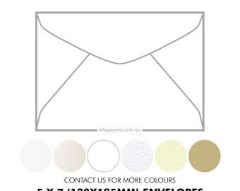 5x7 Invitation Envelopes 130mm X 185mm (Pack of 10)