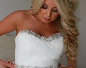 Opal, Bridal Sash, Bridal Belt, Wedding Sash, Wedding Dress Sash, Wedding Dress Belt, Wedding Belt, Vintage Wedding, UK Bridal Sash