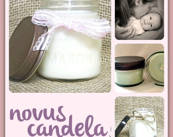 Mason Jar Candle - Soy Candle - Soy Scented Candle - Mothers Candle - Mothers Love Candle - Homemade Candle - Housewarming Gift - 4 & 8 oz