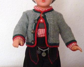 "Vintage / / original / / Käthe Kruse Doll / / by Schildkröt / / ""Seppl"" around 1950 / / Tortulone / / Germany"