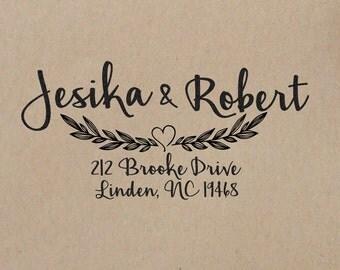 Wedding  Stamp  Custom Wedding Stamp  Wedding Rubber Stamp Wedding Stamp Address Handle  Return Address Stamp